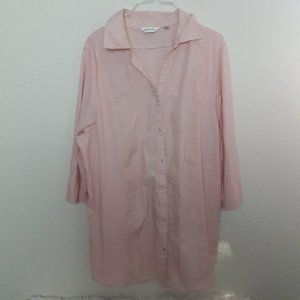 Avenue 26/28 Pale Pink Button Down Blouse Career